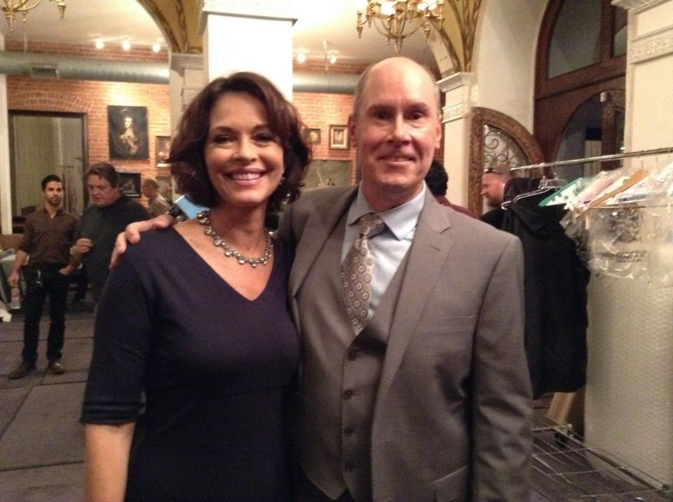 With Mary Page Keller on the set of