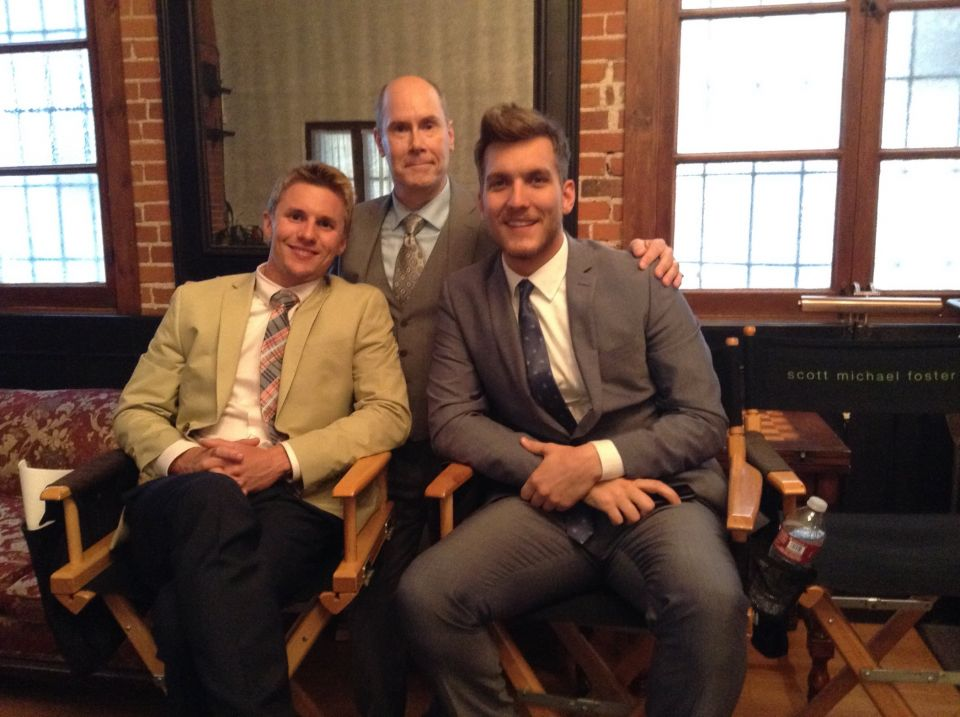 """With Scott Michael Foster and Tyler Sellers on the set of """"Chasing Life"""""""